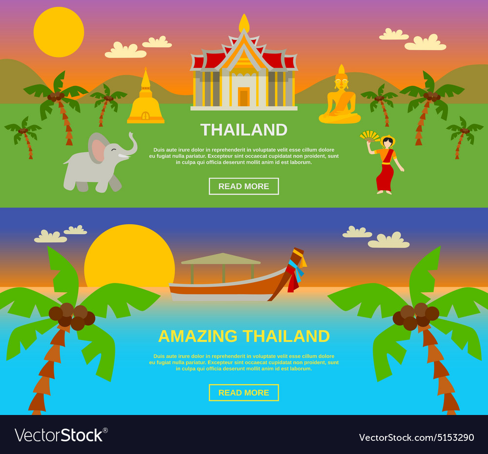 Amazing Thailand Banners Set
