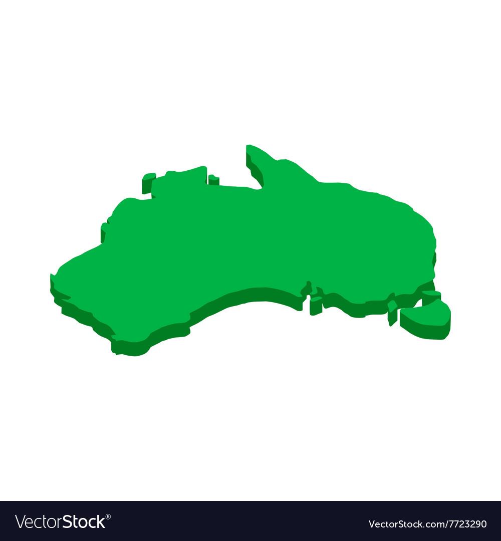 Free 3d Map Of Australia.Australia Map Icon Isometric 3d Style