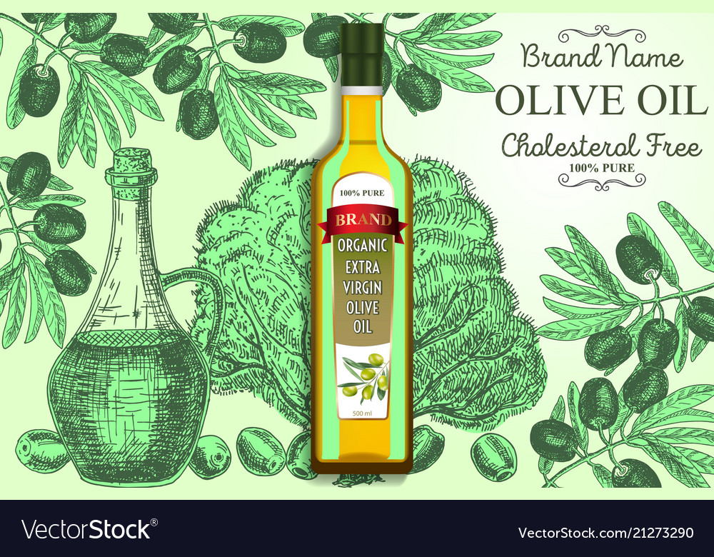 Olive oil ads poster banner template