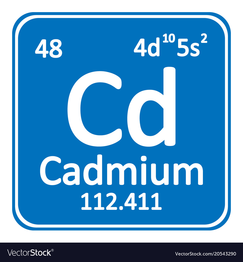 Periodic Table Element Cadmium Icon Royalty Free Vector