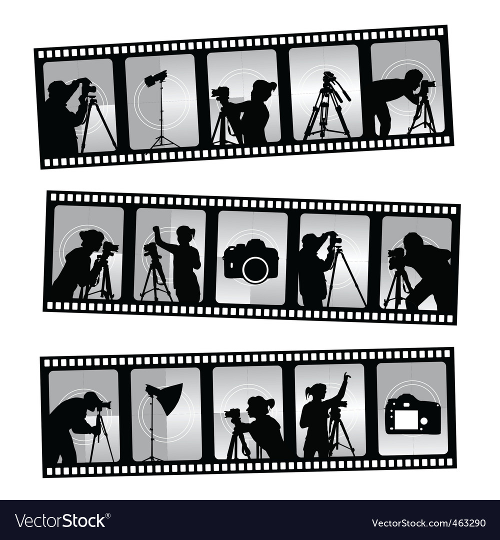 Photography filmstrip vector