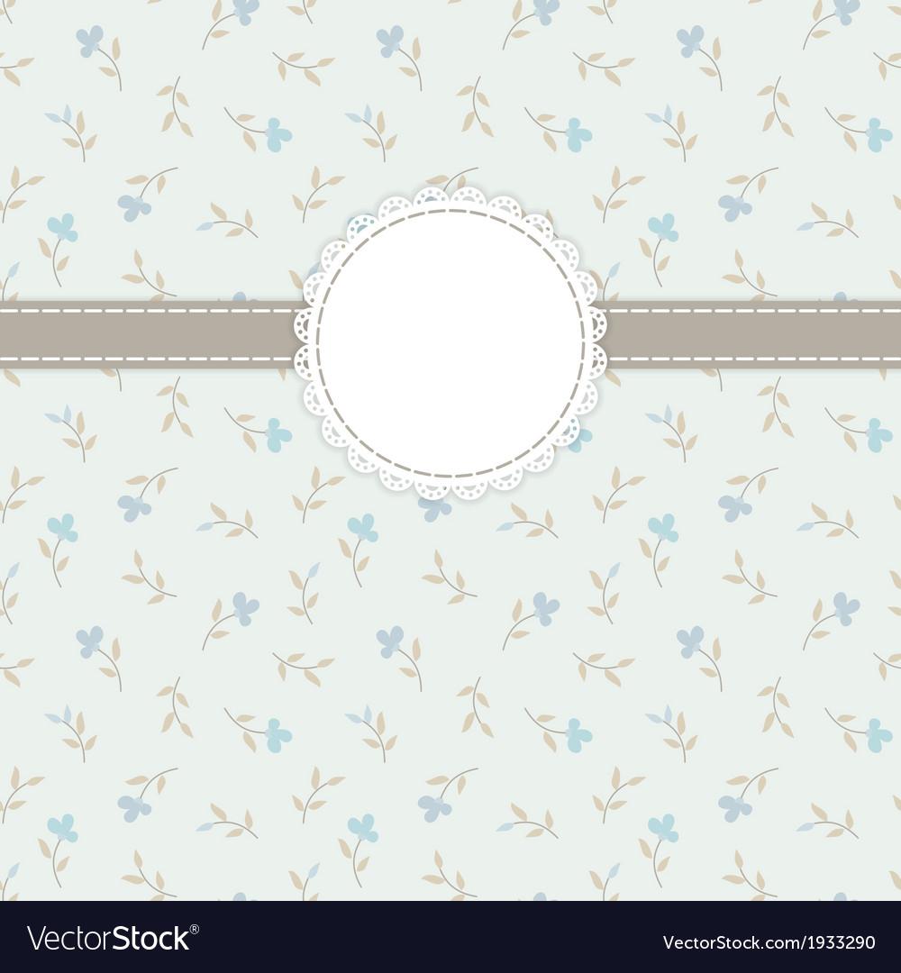 Retro invitation card vector image