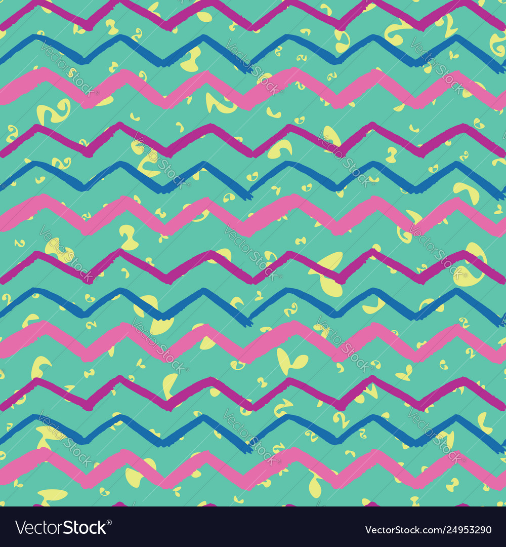 Trendy zigzag abstract seamless background