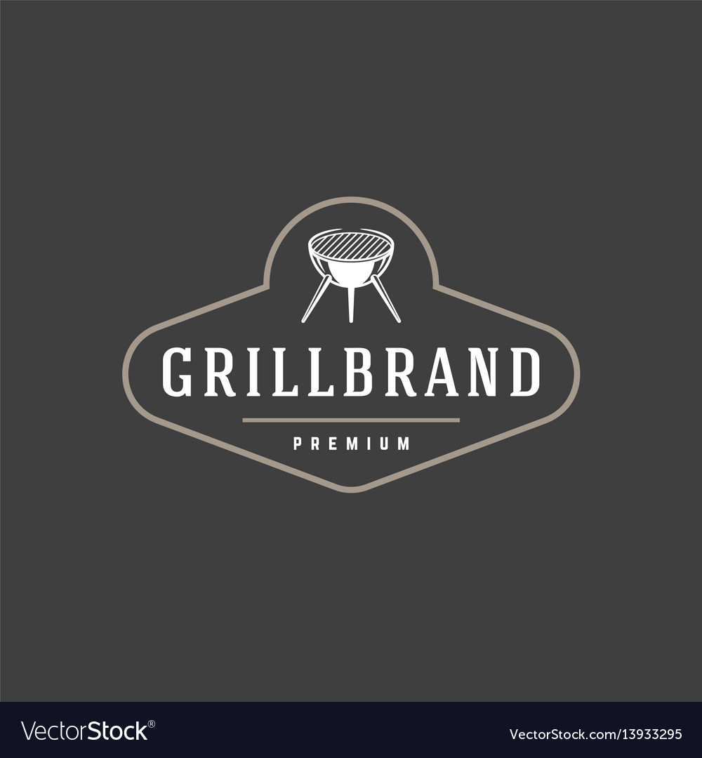Barbecue logo template object for logotype