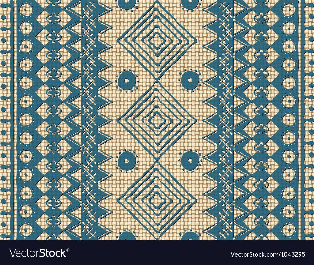 Brown ethnic texture vector image