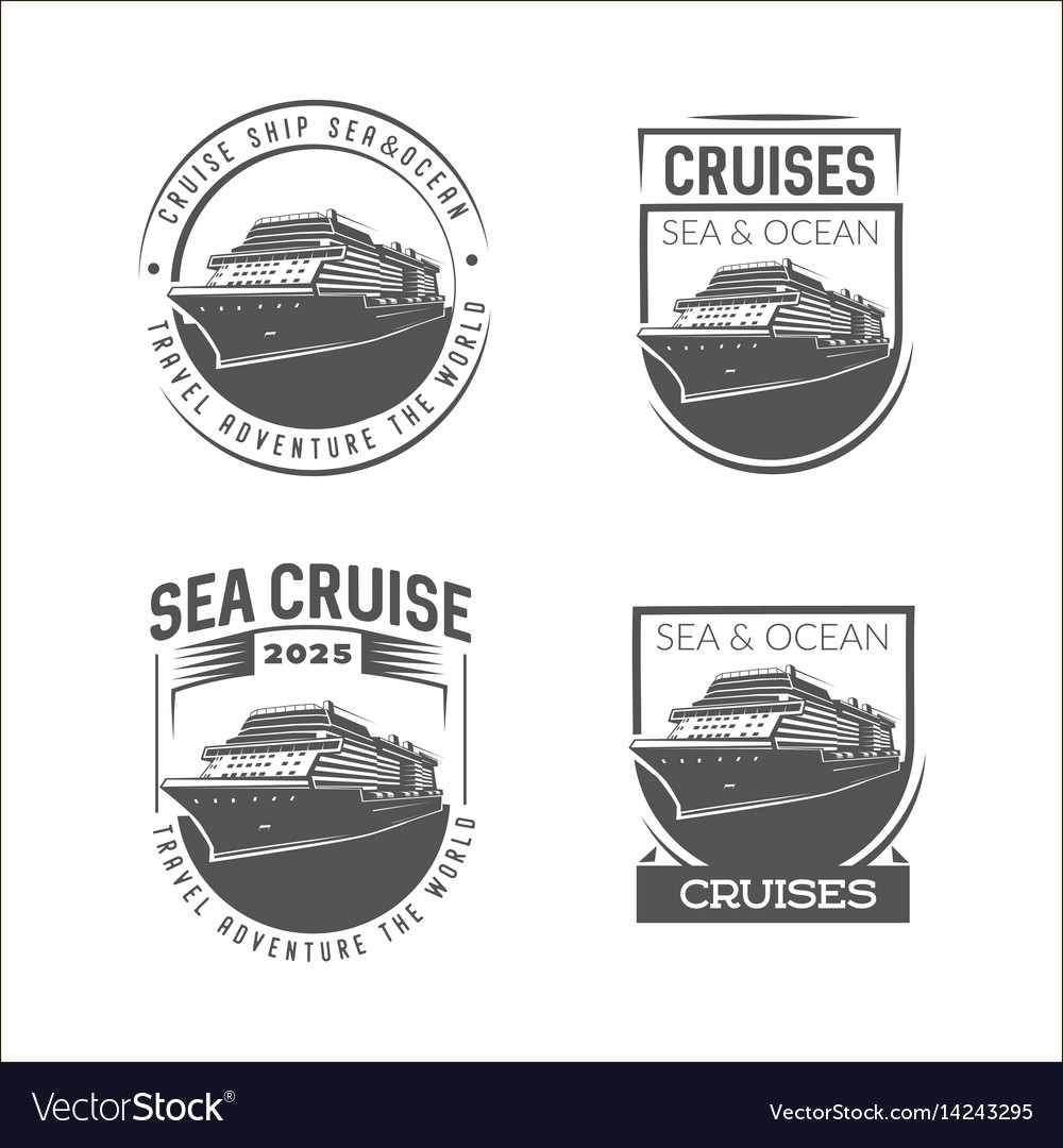 Cruise logo design template