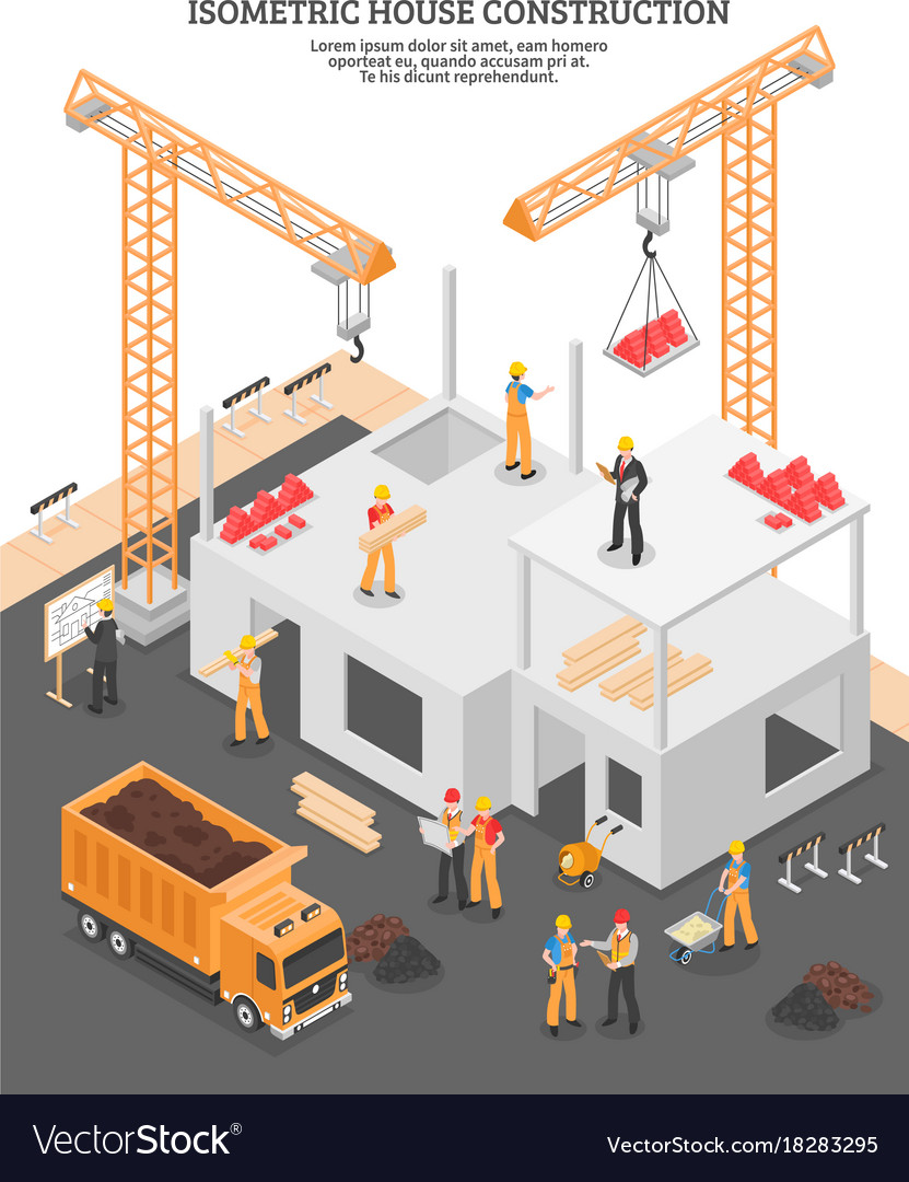 Isometric construction vertical composition
