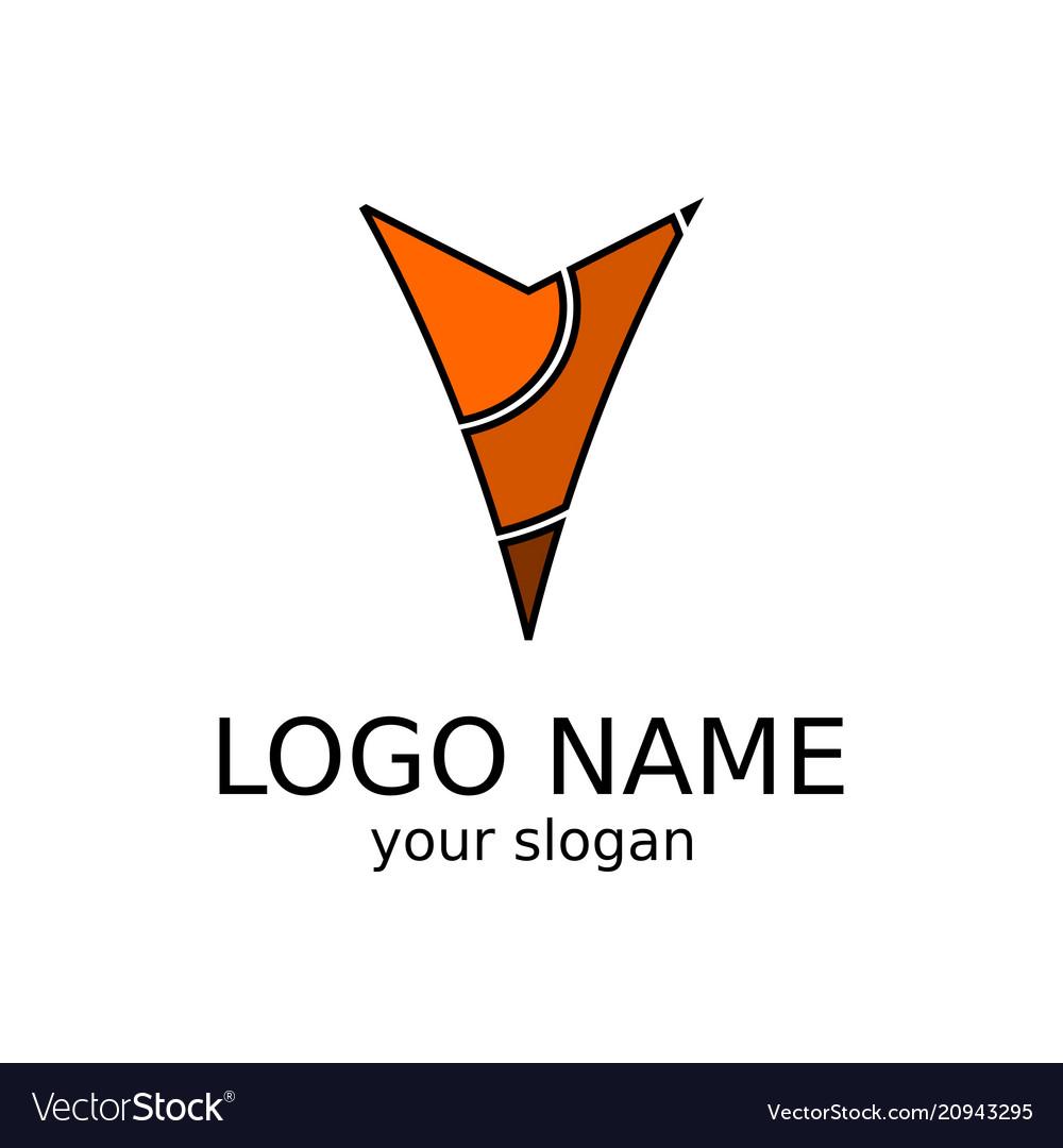 Letter v abstract logo vector image