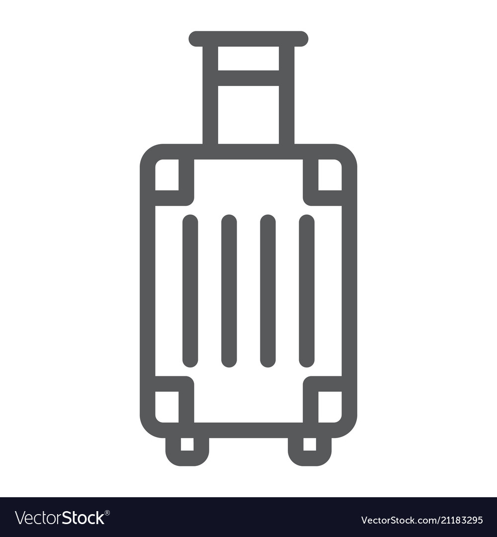Luggage line icon travel and tourism travel bag