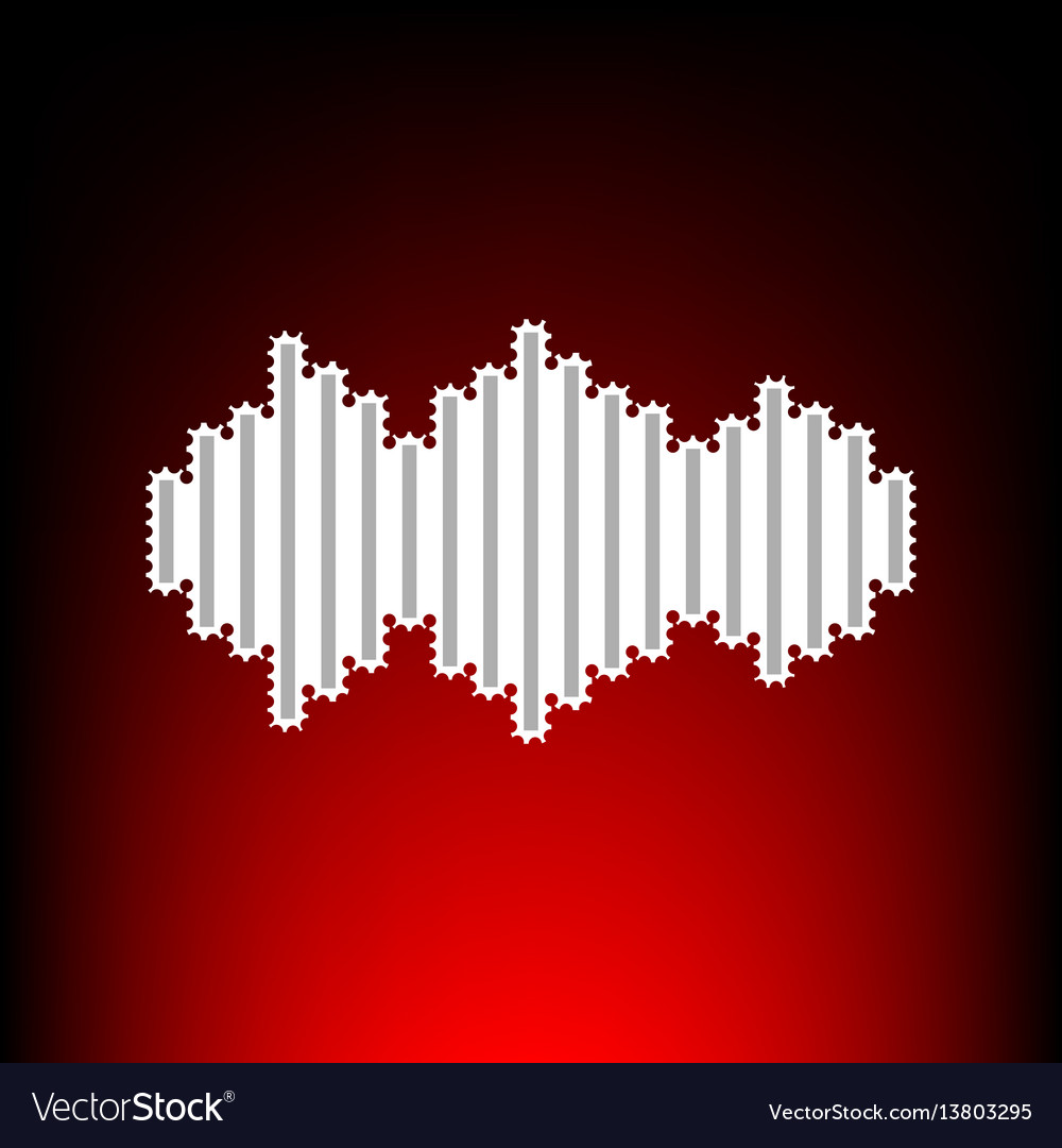 Sound waves icon style