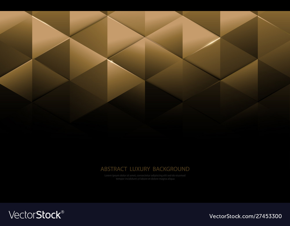 Abstract gold triangle shapes and luxury pattern