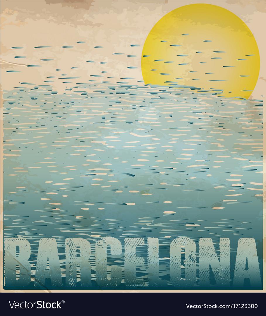 Barcelona spain greeting card poster postcard