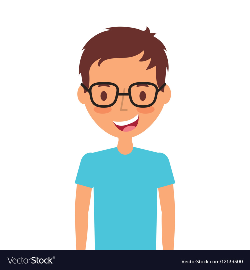 Cartoon young man icon Royalty Free Vector Image
