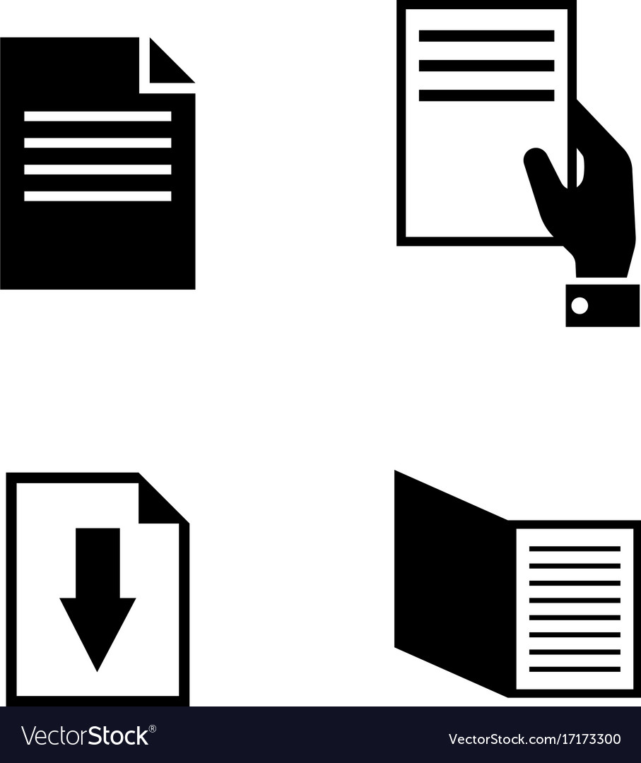 Documents simple related icons