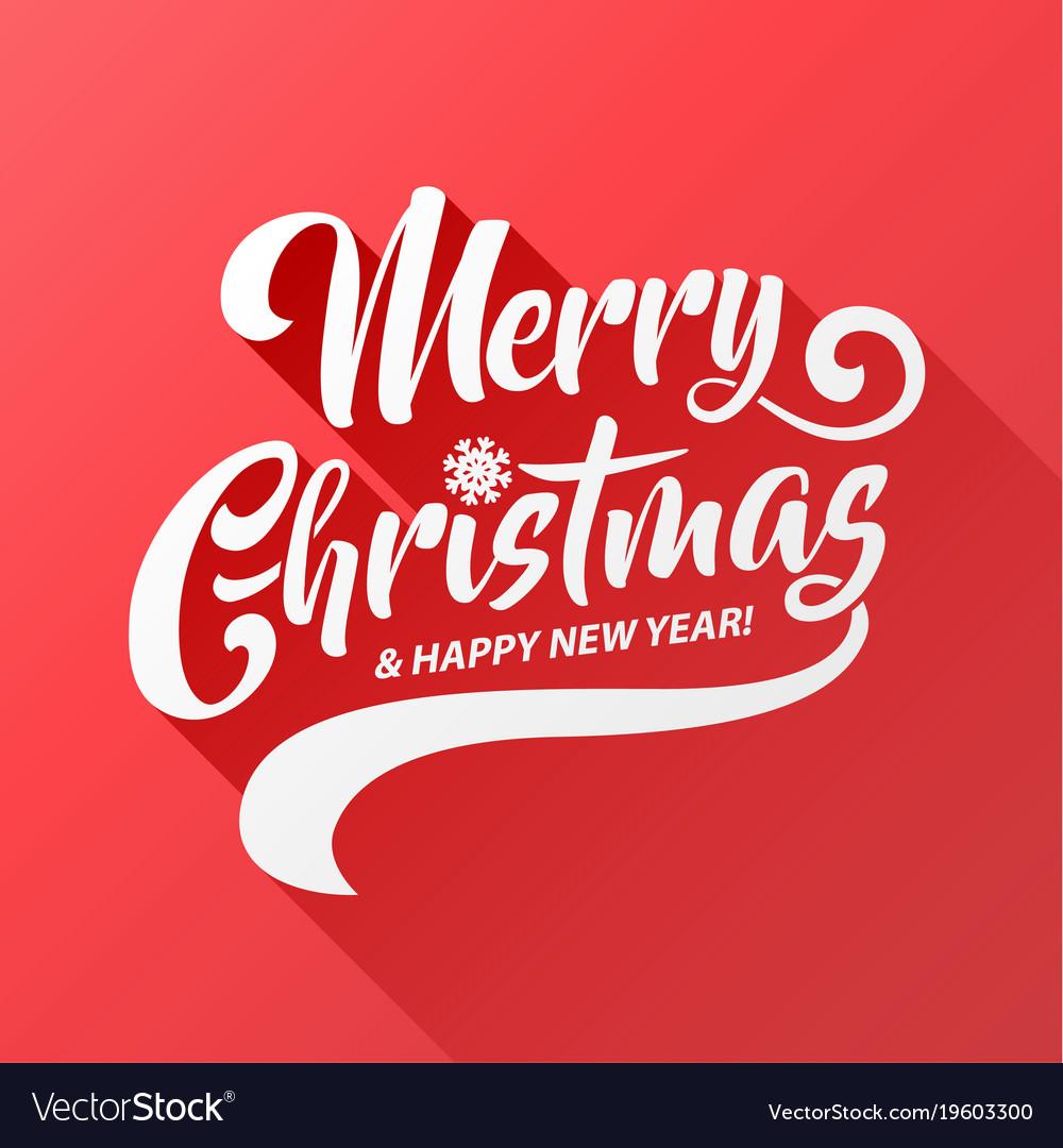 Merry christmas text calligraphic