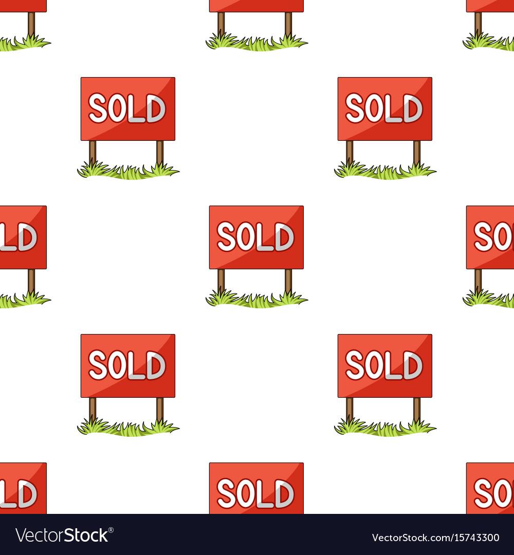 Signboard-soldrealtor single icon in cartoon