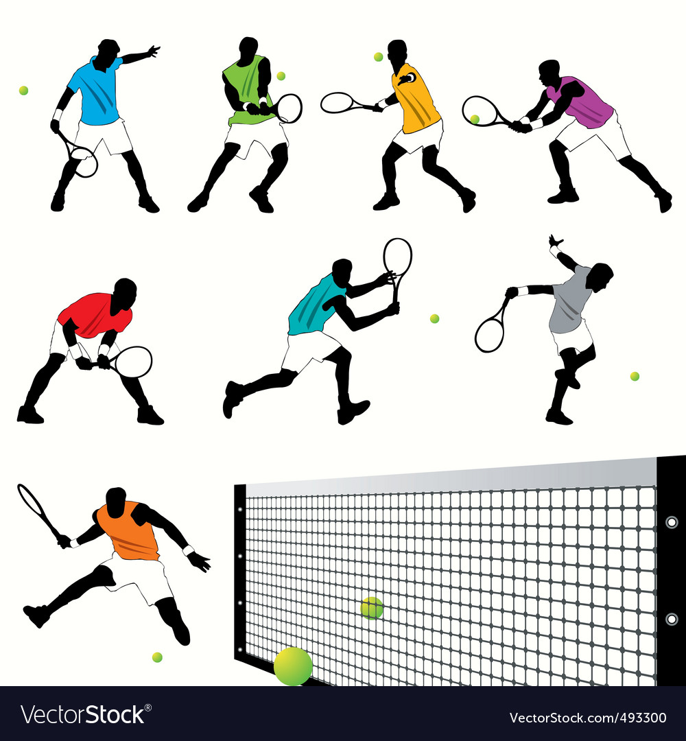 Tennis set03 vector image
