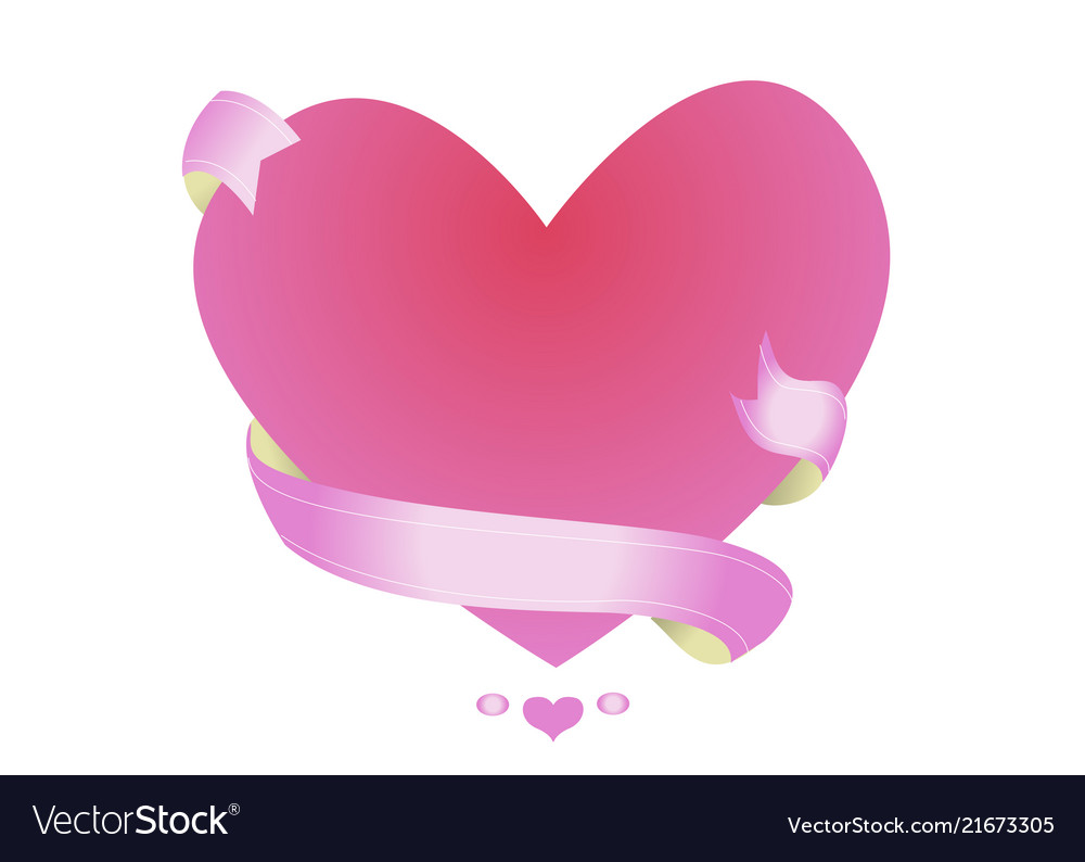 Beautiful pink frame in the shape of a heart
