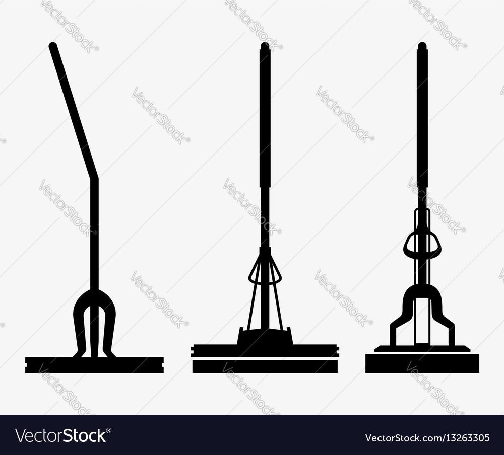 Mop vector image