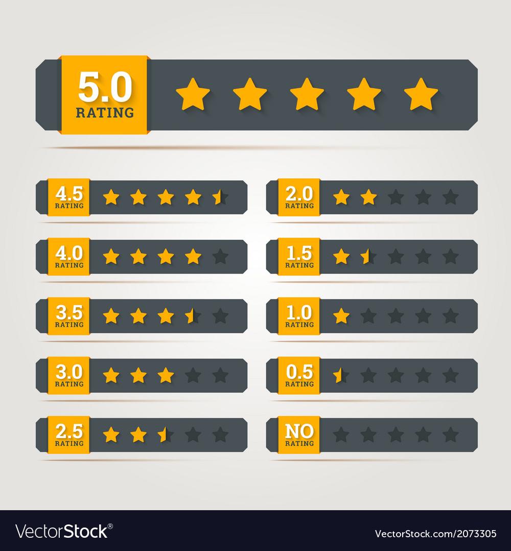 Rating stars badges