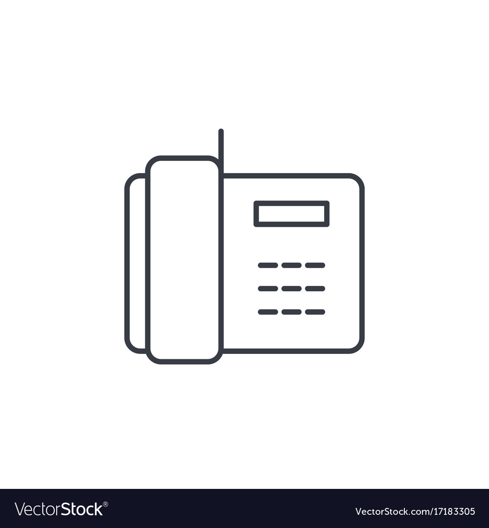 Telephone office phone thin line icon linear