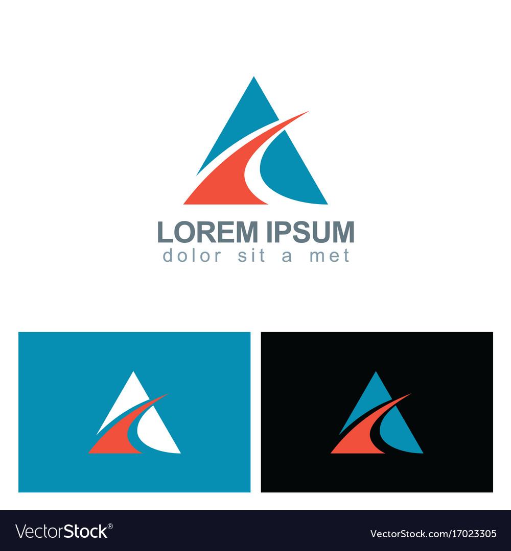Triangle loop business logo