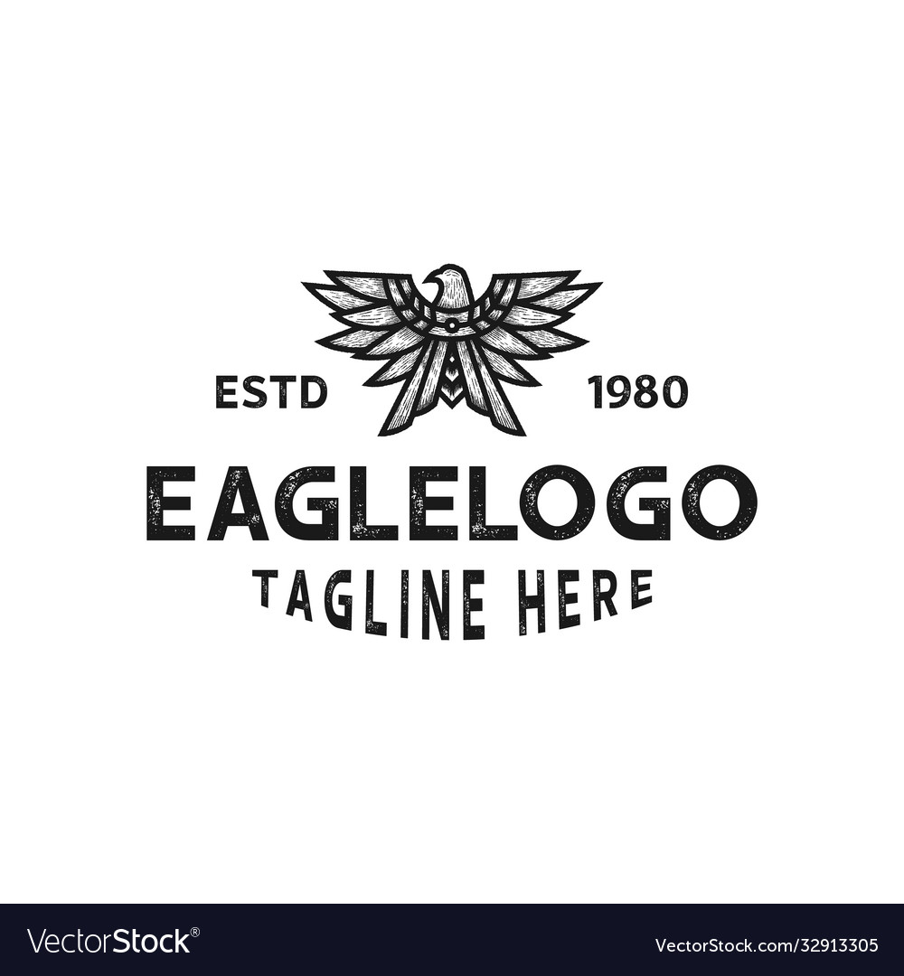 Vintage eagle emblem logo template