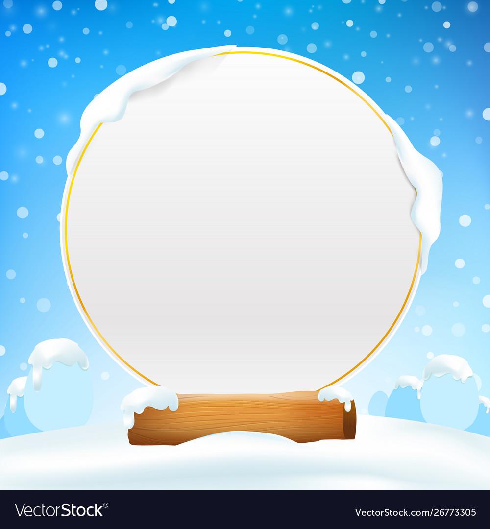 Winter Snow Background Clip Art