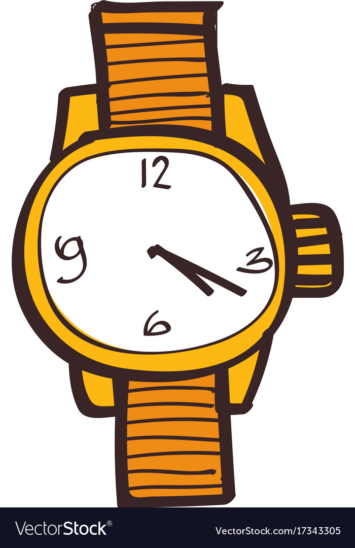 Wristwatches clipart color on a white background