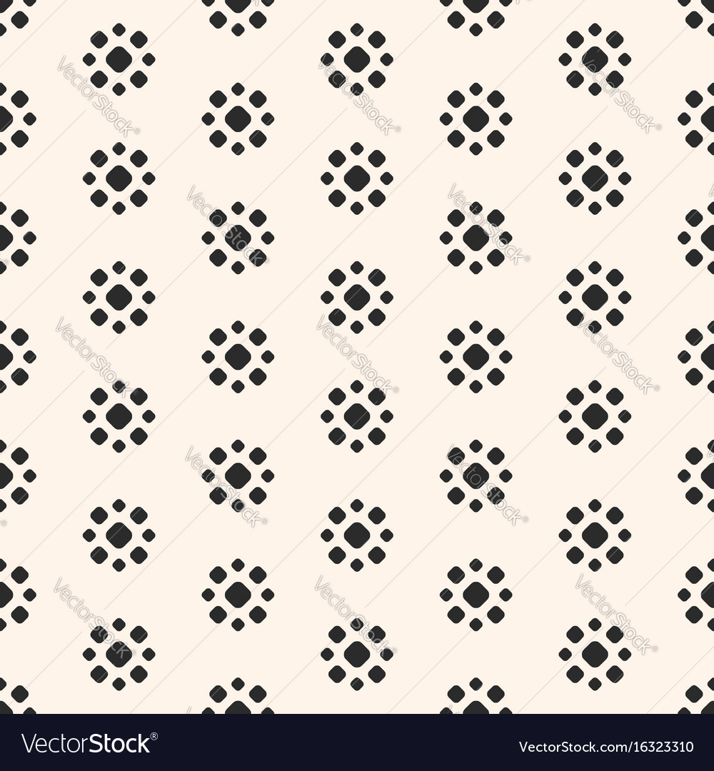 Abstract dotted seamless pattern simple floral