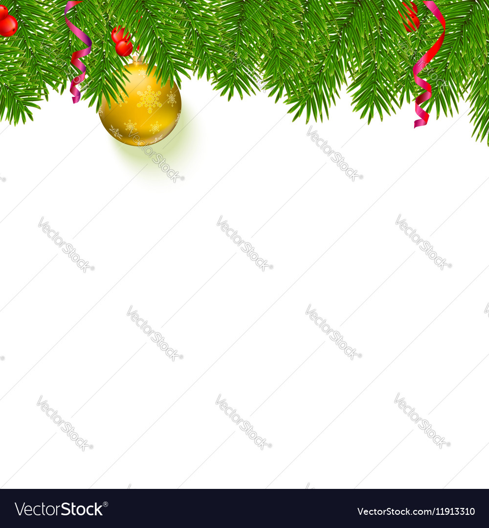 Christmas background with fir branches red