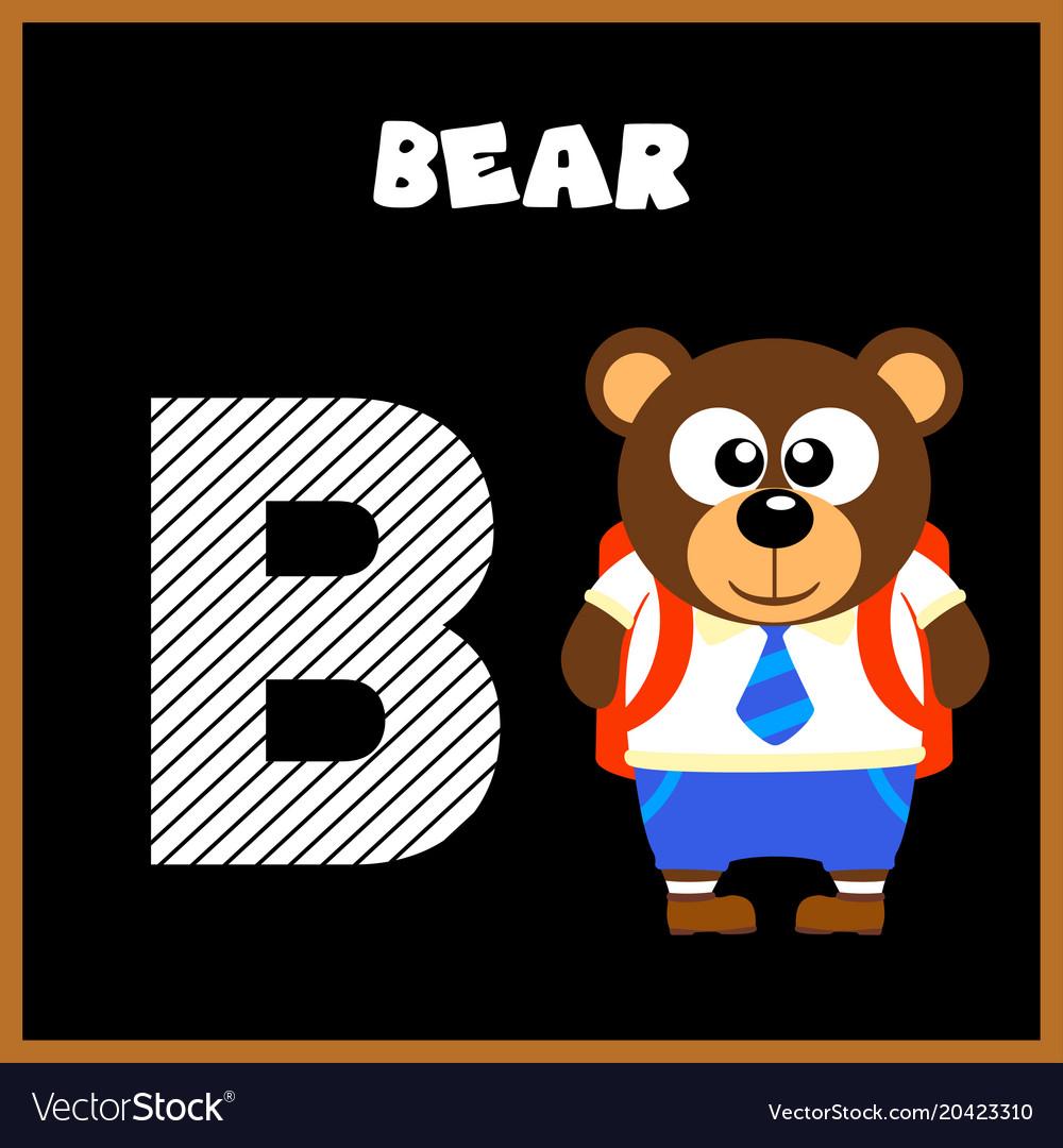 English alphabet letter b bear