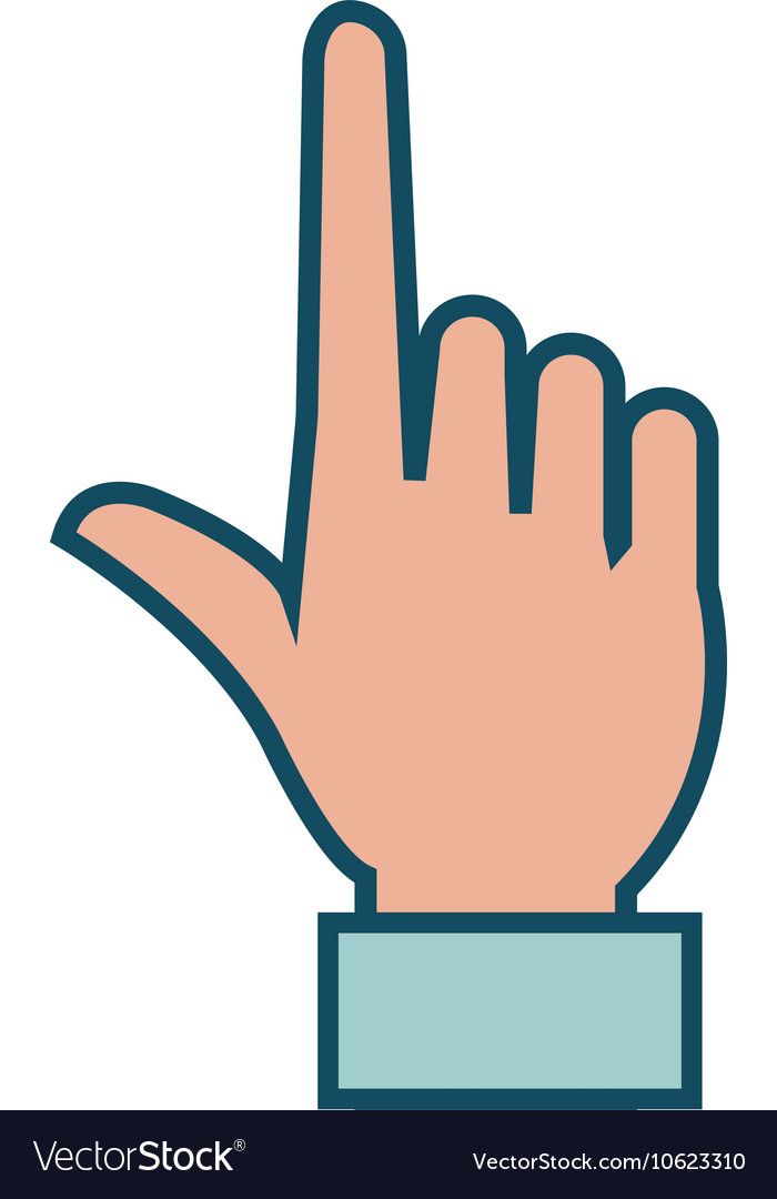 Human hand with finger pointing vector image