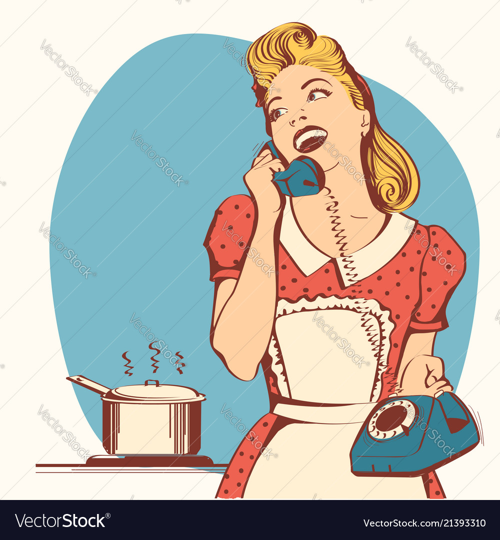 Pin, Up, Housewife & Woman Vector Images (61)