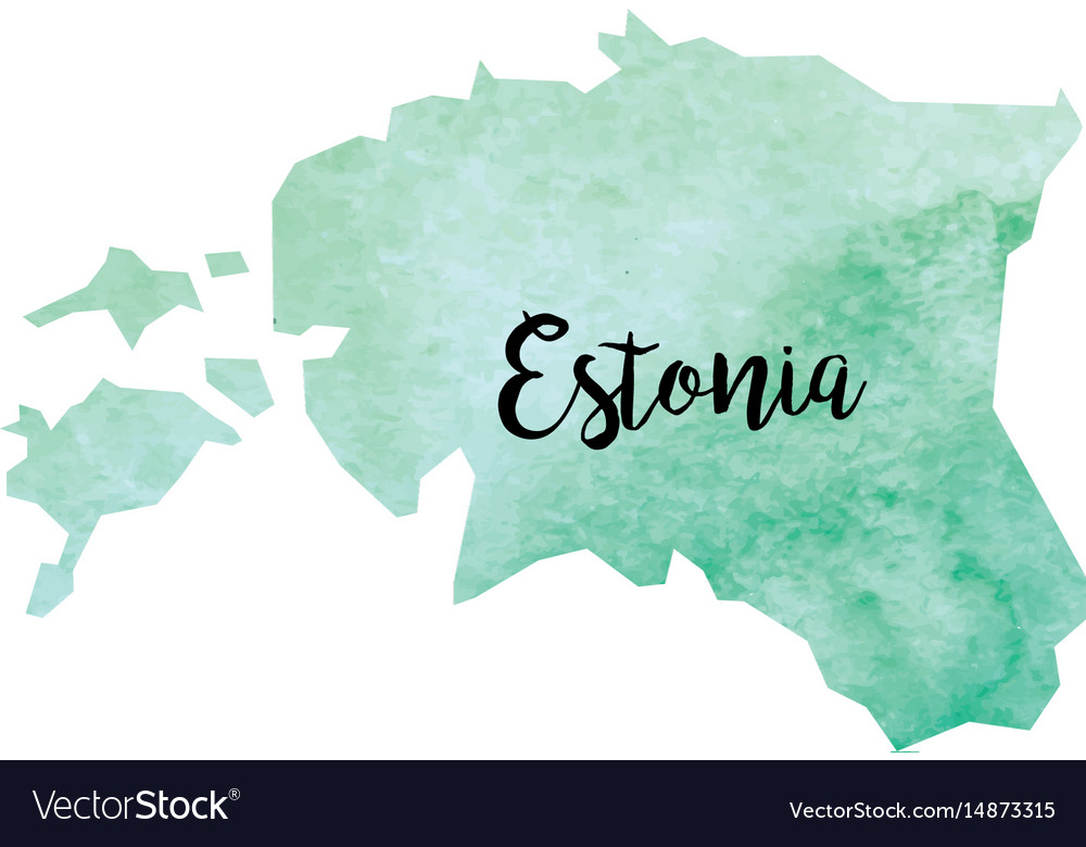 Abstract estonia map