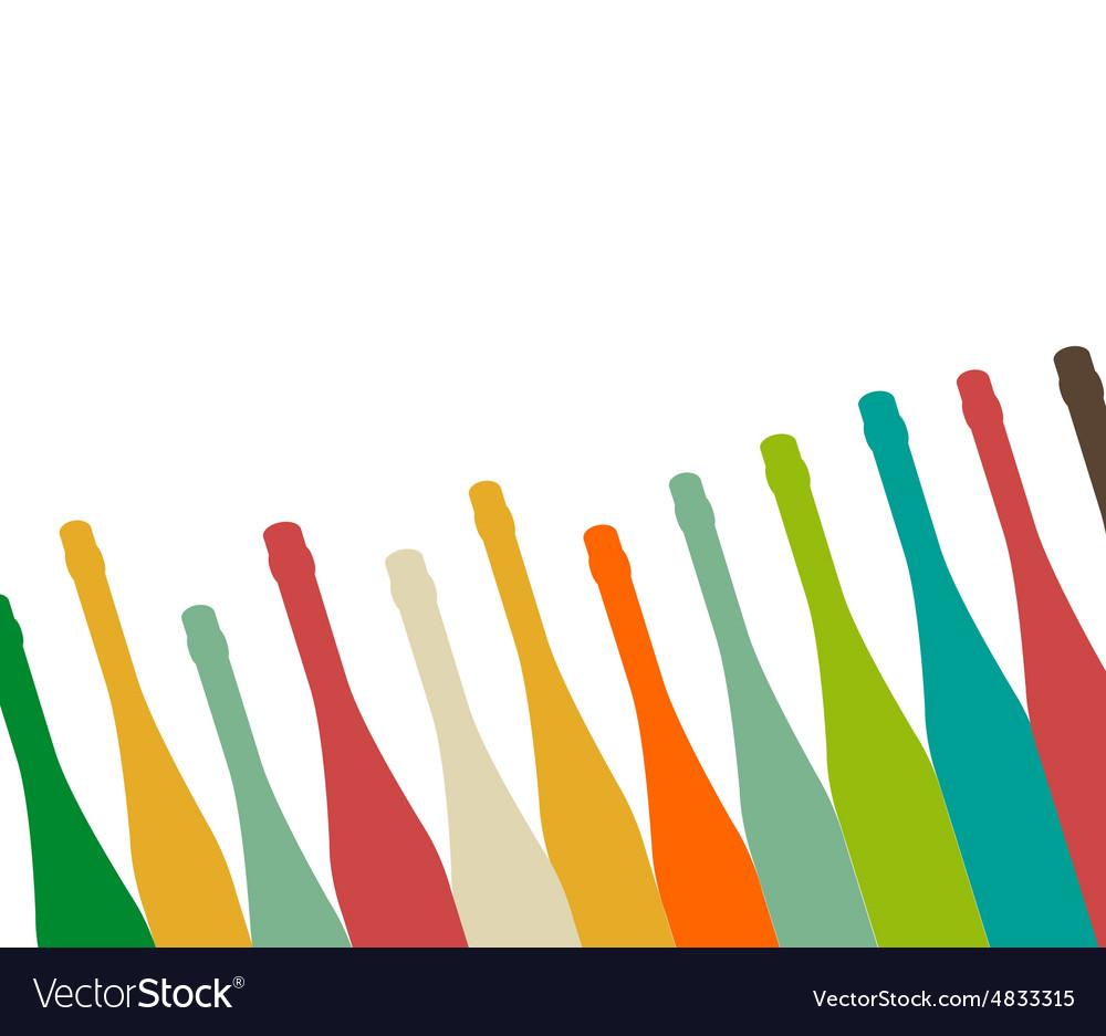 Bottle color vector image