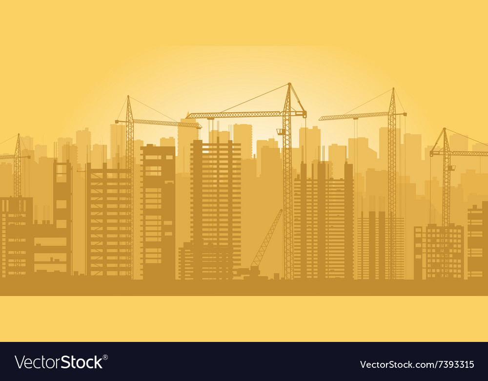 Building is in city vector image