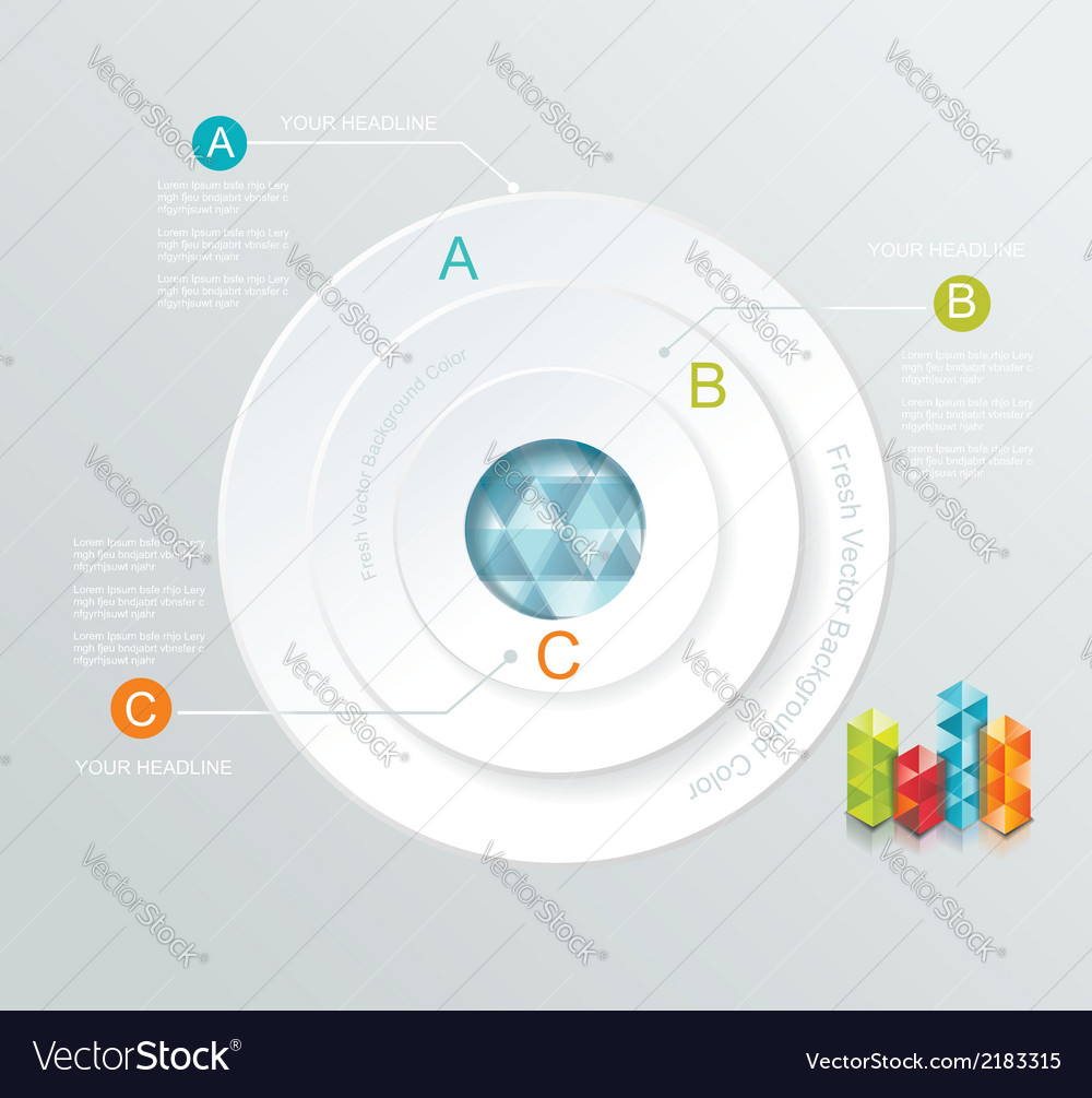Business Infographics circle style vector image