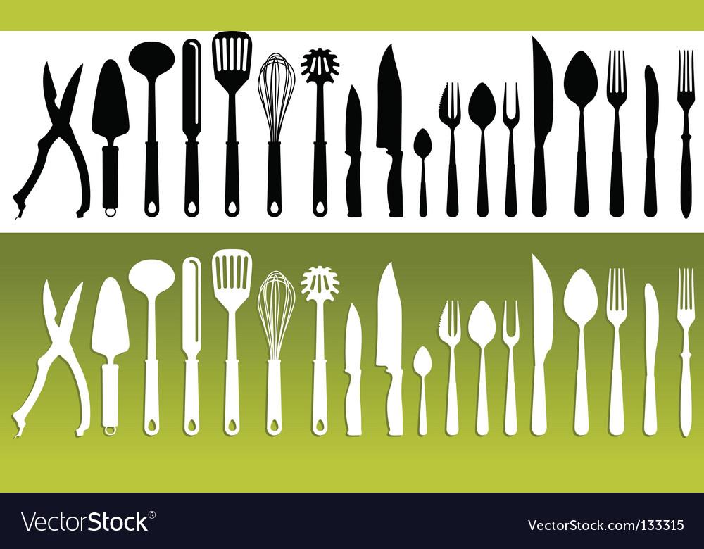 Kitchenwares Vector Image