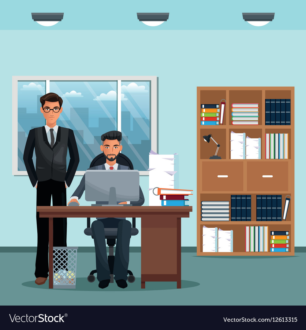 Admirable Men Office Place Working Desk Furniture Books Home Interior And Landscaping Eliaenasavecom