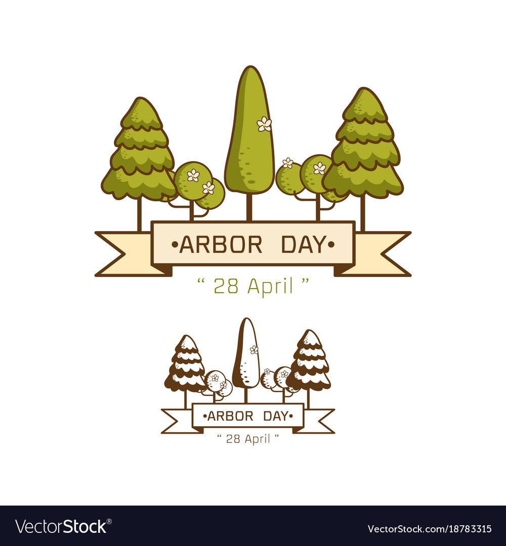 National arbor day vector image