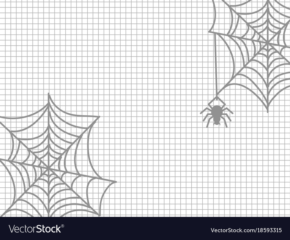 Spider and cobweb halloween