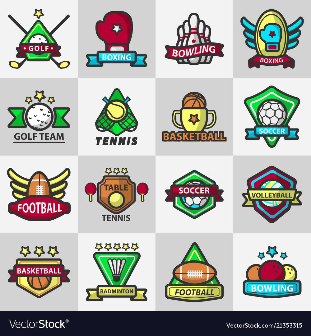 Sport club or team badge icons
