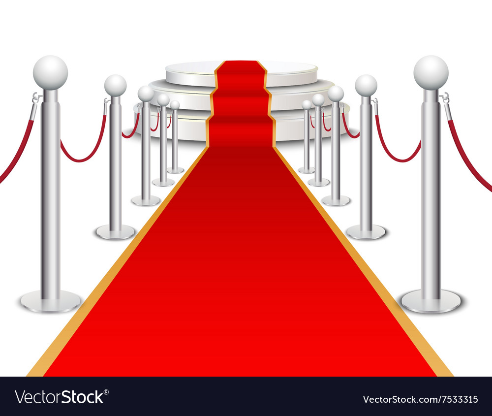 Stage and red carpet background