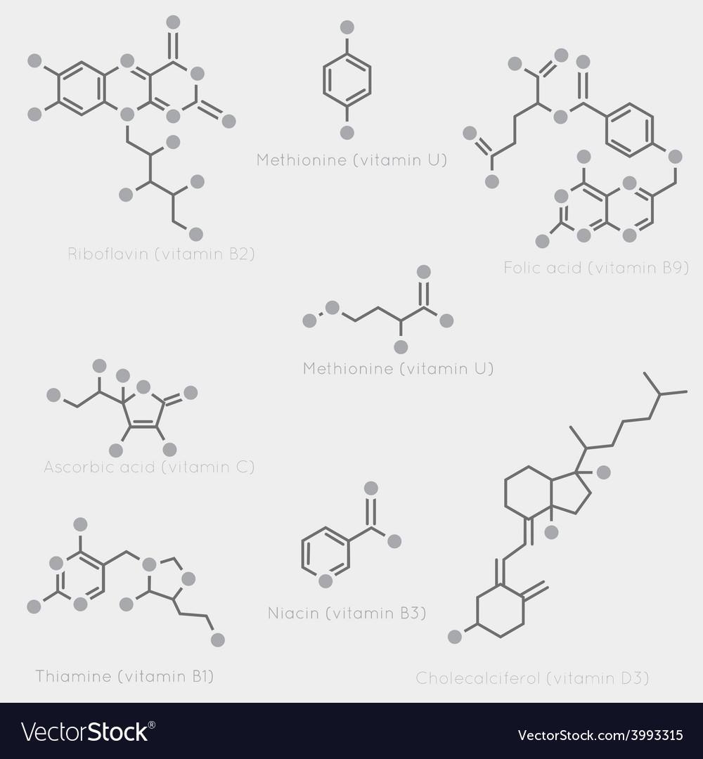 Vitamin skeletal formula