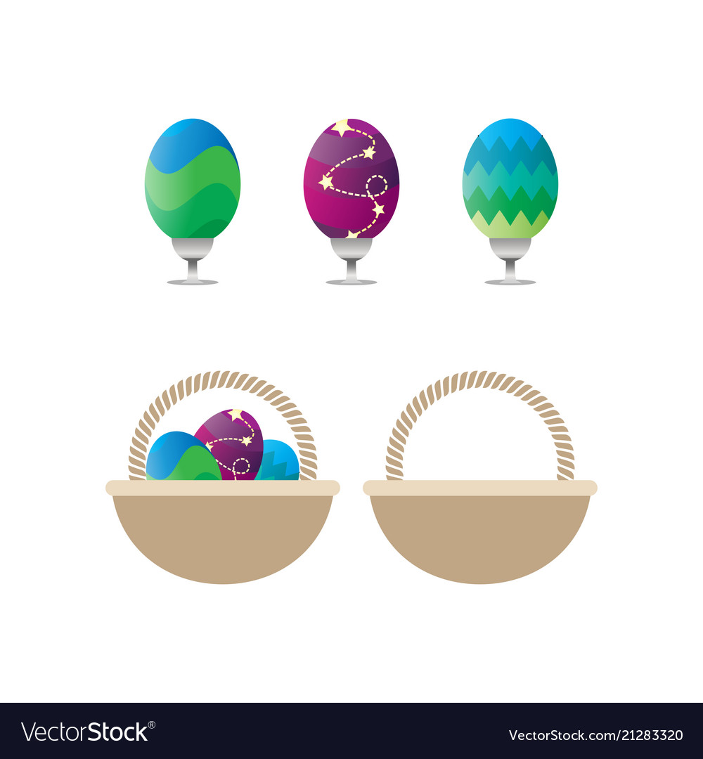 Collection easter eggs template