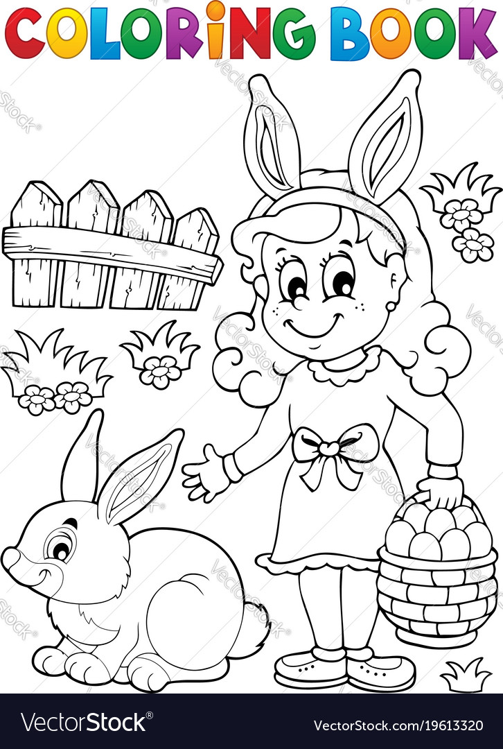 - Coloring Book Easter Topic Image 2 Royalty Free Vector Image