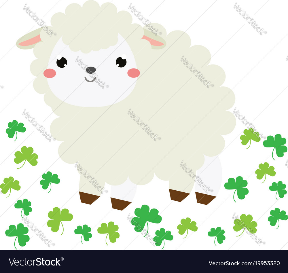 Happy Lamb Cartoon. Perfect Cute Happy Birthday Card With Funny Lamb ... for cute animated sheep  67qdu