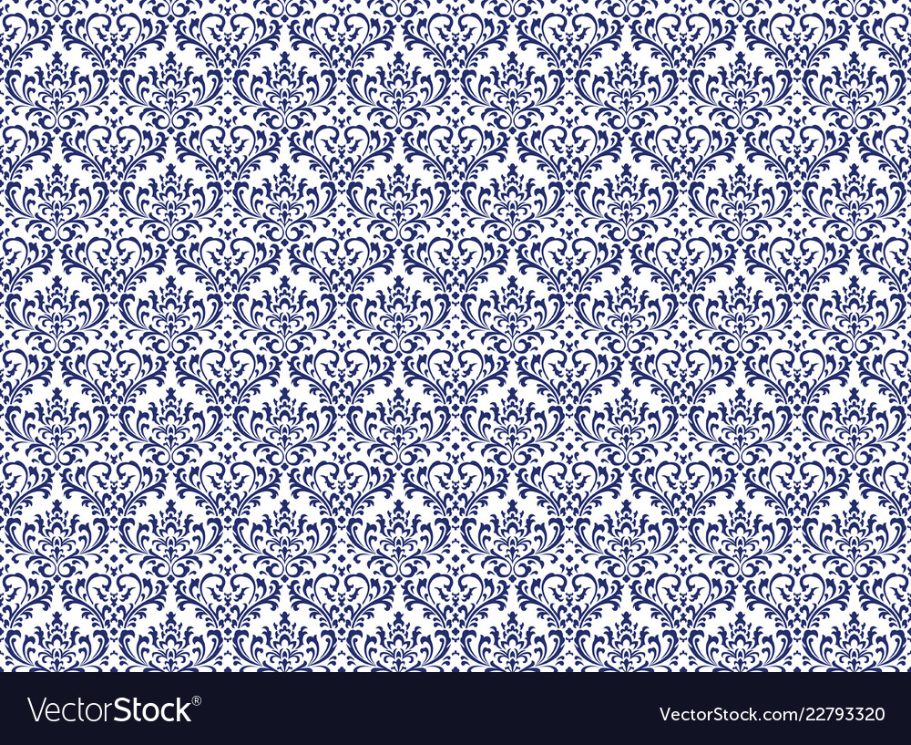 Damask vintage seamless patterns