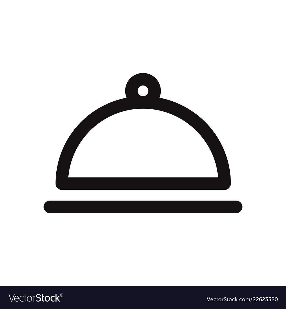 Food cloche icon cover food symbol